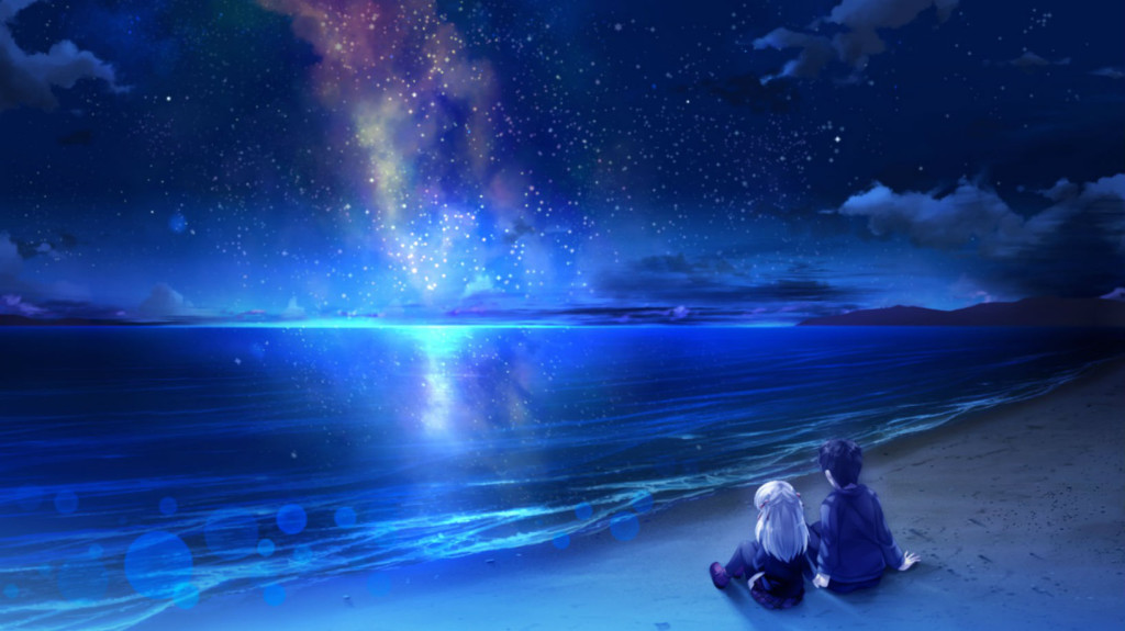 beach night stars